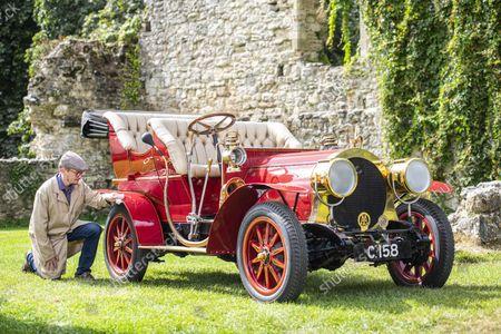 Editorial photo of Mr Toad's car inside the National Motor Museum, Beaulieu, Hampshire, UK - 09 Sep 2021