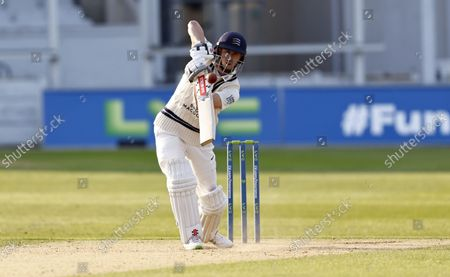 Stock Photo of John Simpson bats for Middlesex during Kent CCC vs Middlesex CCC, LV Insurance County Championship Division 3 Cricket at The Spitfire Ground on 22nd September 2021