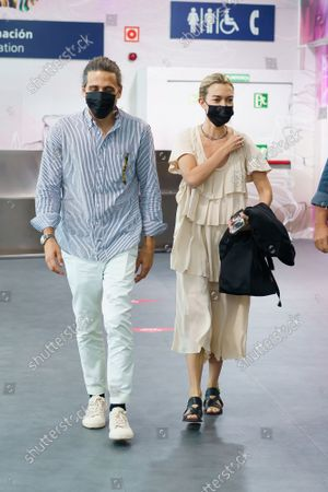 """Stock Image of Marta Ortega and Carlos Torretta seen going to  the""""Roberto Torretta"""" collection during Mercedes-Benz Fashion Week Madrid 2021 in Madrid."""