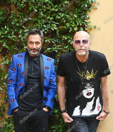 Pau singer Negrita and Francesco Pignatelli artistic director of Carlo Pignatelli