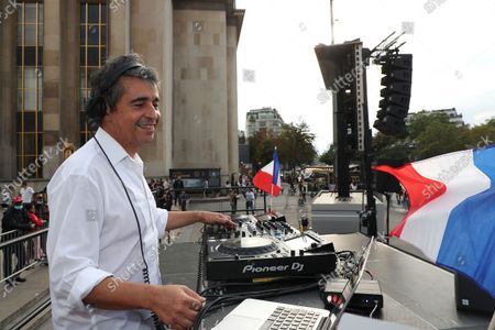 Editorial image of 1st Citizens' Festival organized by Frank Tapiro on Human Rights at Trocadero, Paris, France - 19 Sep 2021