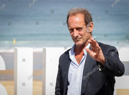 Vincent Lindon poses during the presentation of his last film 'Undercover' (Enquête sur un scadale D'Etat) at the 69th San Sebastian International Film Festival (SSIFF), in San Sebastian, Spain, 22 September 2021. The festival runs from 17 to 25 September 2021.