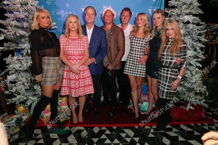 Paris Hilton, Kathy Hilton, Richard Hilton, David Cooley, Barron Hilton, Tessa Hilton, Nicky Hilton, Kim Richards