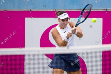 Ana Konjuh of Croatia competes