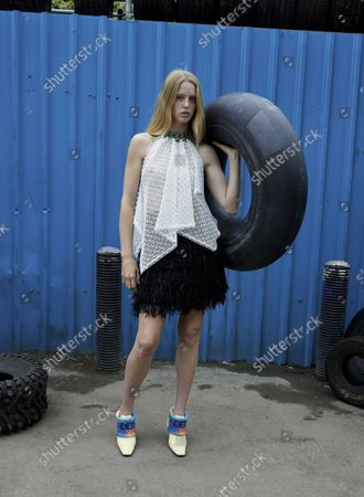 Model Wears an Outfit as Part of the Ready to Ready to Wear Summer 2022, London, UK, from the House of JW Anderson