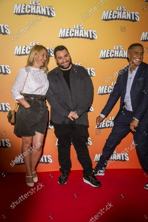 Stock Picture of Ludivine Sagnier Mouloud Achour the director and Samy Naceri