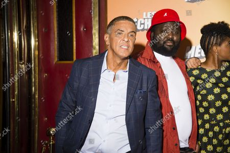 Samy Naceri and Djimo at the premiere of Les Méchants at the Grand Rex in Paris on 7 September 2021  Samy Naceri and Djimo at the premiere of The Bad Guys at the Grand Rex in Paris on September 7, 2021