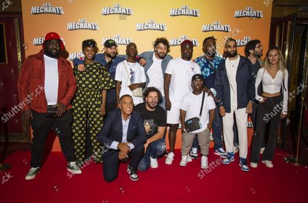Stock Photo of Dlimo Samy Naceri Roman Frayssinet and the cast of the film at the premiere of Les Méchants at the Grand Rex in Paris on 7 September 2021 Dlimo Samy Naceri Roman Frayssinet and the cast at the premiere of Les Mains at the Grand Rex in Paris on September 7, 2021
