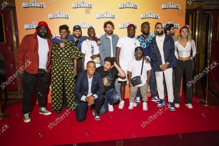 Stock Image of Dlimo Samy Naceri Roman Frayssinet and the cast of the film at the premiere of Les Méchants at the Grand Rex in Paris on 7 September 2021 Dlimo Samy Naceri Roman Frayssinet and the cast at the premiere of Les Mains at the Grand Rex in Paris on September 7, 2021