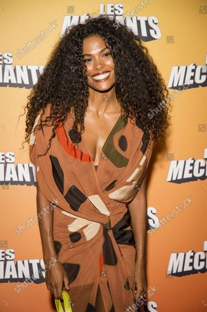 Tina Kunakey di Vita, wife of Vincent Cassel at the premiere of Les Mains at the Grand Rex in Paris on September 7, 2021  Tina Kunakey di Vita wife of Vincent Cassel at the premiere of Les Mains at the Grand Rex in Paris on September 7, 2021