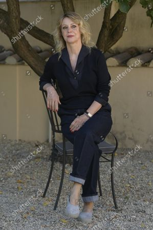 Margherita Buy attends the photocall of the film 'Tre piani' ('Three Floors') at the garden of the Hotel Donna Camilla Savelli