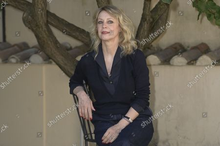 Stock Picture of Margherita Buy attends the photocall of the film 'Tre piani' ('Three Floors') at the garden of the Hotel Donna Camilla Savelli