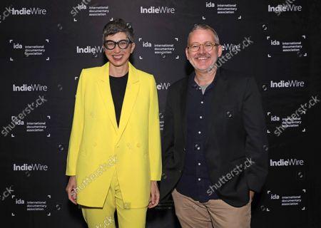 Moderator Dana Harris-Bridson and Director/Producer Morgan Neville