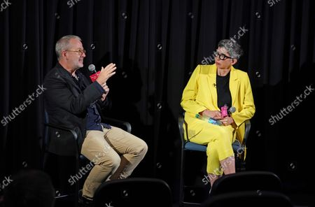 Stock Photo of Director/Producer Morgan Neville and Moderator Dana Harris-Bridson