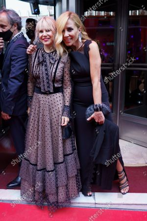 Stock Picture of Eugenia Martinez and Marta Sanchez attend the photocall for Chicote awards 2021 at the Chicote museum.