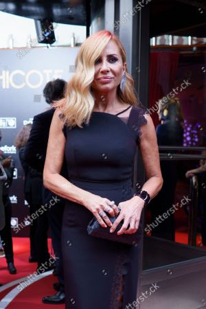 Stock Photo of Marta Sanchez attends the photocall for Chicote awards 2021 at the Chicote museum.