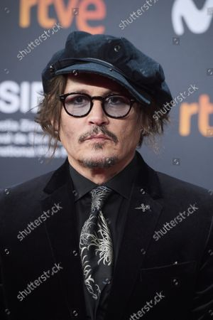 Johnny Depp attended 'The Daughter' Red Carpet during 69th San Sebastian International Film Festival at Kursaal Palace on September 22, 2021 in Donostia / San Sebastian, Spain