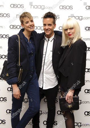 Agyness Deyn, Chris Bletzer and Fiona Byrne