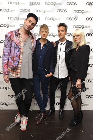 Guest, Agyness Deyn, Chris Bletzer and Fiona Byrne