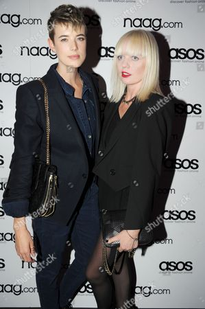 Stock Picture of Agyness Deyn and Fiona Byrne