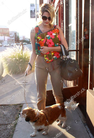 Mischa Barton with her dog