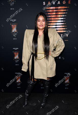 Chloe Flower attends Rihanna's Savage X Fenty Show Vol. 3 premiere, in New York