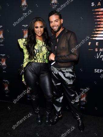 Stock Photo of Cyn Santana, left, and Jonathan Fernandez attend Rihanna's Savage X Fenty Show Vol. 3 premiere, in New York