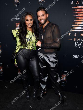 Cyn Santana, left, and Jonathan Fernandez attend Rihanna's Savage X Fenty Show Vol. 3 premiere, in New York