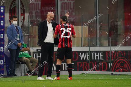 Editorial photo of Italian football Serie A match AC Milan vs Venezia FC, Milan, Italy - 22 Sep 2021