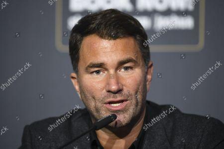 Eddie Hearn pre-fight press conference for Joshua v Usyk