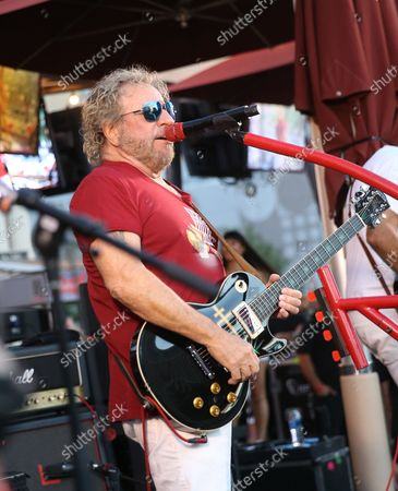 Sammy Hagar. Rock Legend Sammy Hagar launches Sammy's Beach Bar Cocktail Co. with Unprecedented Rooftop Performance By The Circle on the Las Vegas Strip at Beer Park Paris Las Vegas.