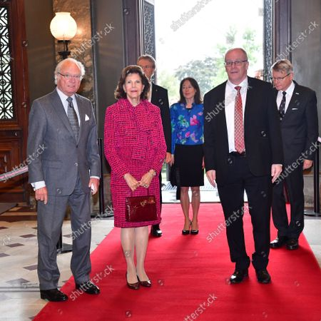 Queen Silvia and King Carl Gustaf visit to Uppsala