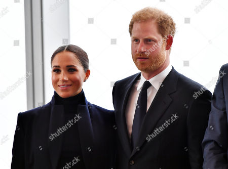 「Prince Harry and Meghan Duchess of Sussex visit One World Observatory, One World Trade Center, New York, USA - 23 Sep 2021」的報導類圖片