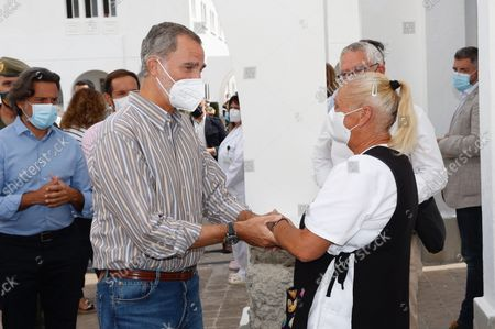 Spanish royals visit the island of La Palma affected by a volcano