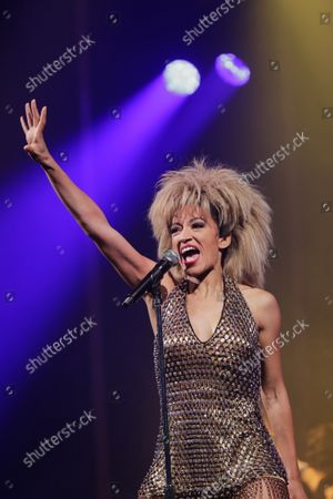 Kery Sankoh performs the show 'Tina, el musical de Tina Turner ' at the Coliseum theater on September 23, 2021 in Madrid, Spain.