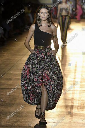 Bianca Balti on the catwalk