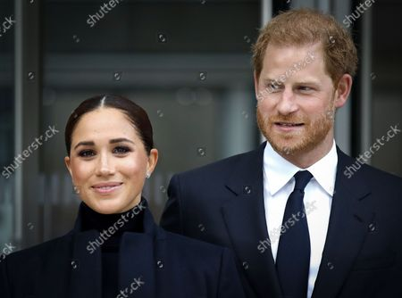 Prince Harry and Meghan Duchess of Sussex visit One World Observatory, New York