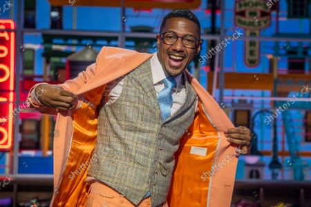 """Stock Picture of Talk show host Nick Cannon poses for a portrait on the set of """"Nick Cannon"""" at Metropolitan Studios in New York on . His nationally syndicated daytime talk show premieres Sept. 27 on Fox Television Stations"""