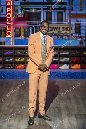 """Stock Image of Talk show host Nick Cannon poses for a portrait on the set of """"Nick Cannon"""" at Metropolitan Studios in New York on . His nationally syndicated daytime talk show premieres Sept. 27 on Fox Television Stations"""