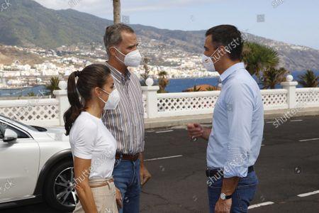 Spanish Royals visit La Palma Island