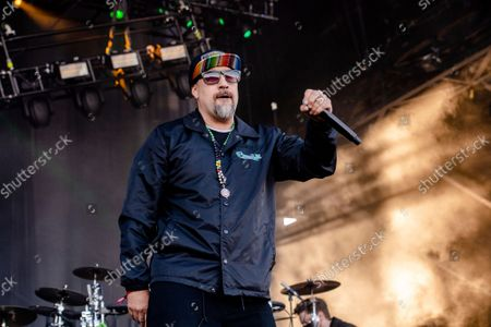 B-Real of Cypress Hill performs at Louder Than Life Festival 2021 at Highland Festival Grounds, in Louisville, Ky