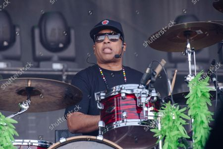 Eric Bobo of Cypress Hill performs at Louder Than Life Festival 2021 at Highland Festival Grounds, in Louisville, Ky