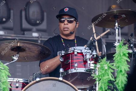 Stock Photo of Eric Bobo of Cypress Hill performs at Louder Than Life Festival 2021 at Highland Festival Grounds, in Louisville, Ky