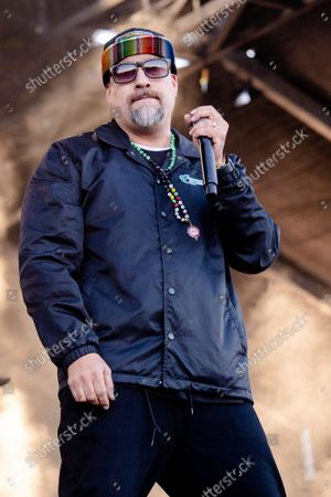 Stock Image of B-Real of Cypress Hill performs at Louder Than Life Festival 2021 at Highland Festival Grounds, in Louisville, Ky