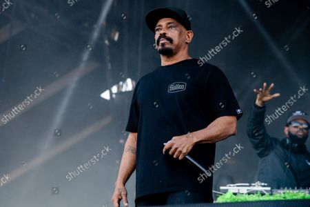 Sen Dog, left, and DJ Muggs of Cypress Hill perform at Louder Than Life Festival 2021 at Highland Festival Grounds, in Louisville, Ky