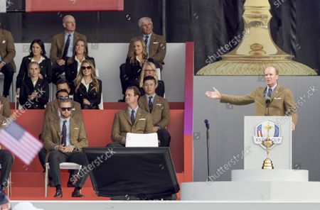 Team USA Captain Steve Stricker introduces his team during the opening ceremony for the 43rd Ryder Cup at Whistling Straits on Thursday, September 23, 2021 in Kohler, Wisconsin.