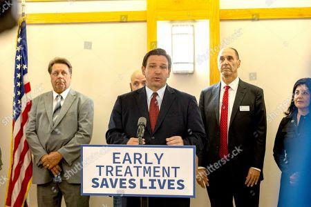 Editorial image of Ron DeSantis Mono-Clodal Antibody Therapy press conference, Tampa, Florida, USA - 23 Sep 2021
