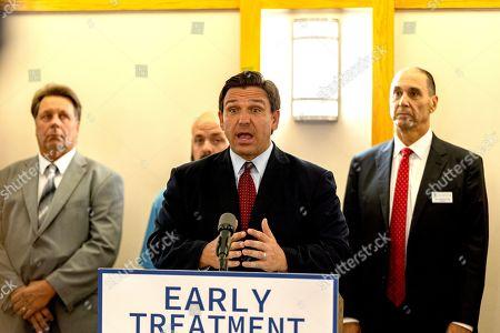 Editorial picture of Ron DeSantis Mono-Clodal Antibody Therapy press conference, Tampa, Florida, USA - 23 Sep 2021
