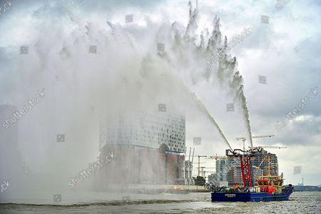 Christening of the two New Fireboats, Hamburg