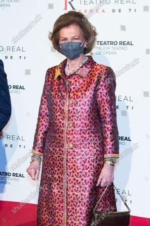 Emeritus Queen Sofia inaugurates the opera season, Madrid